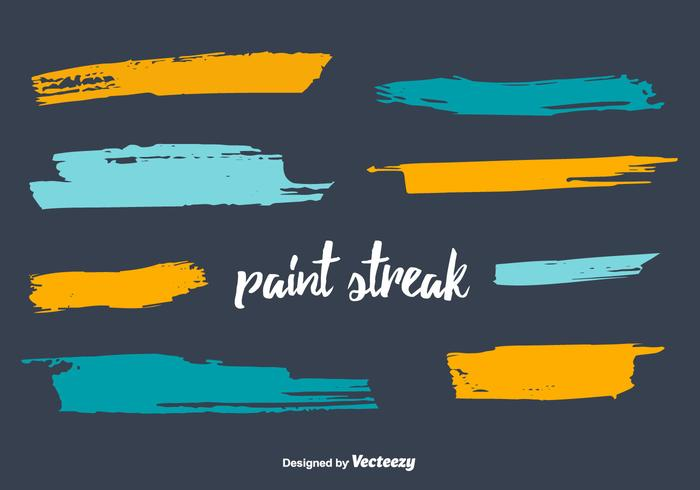 Paint Streak Vector Set