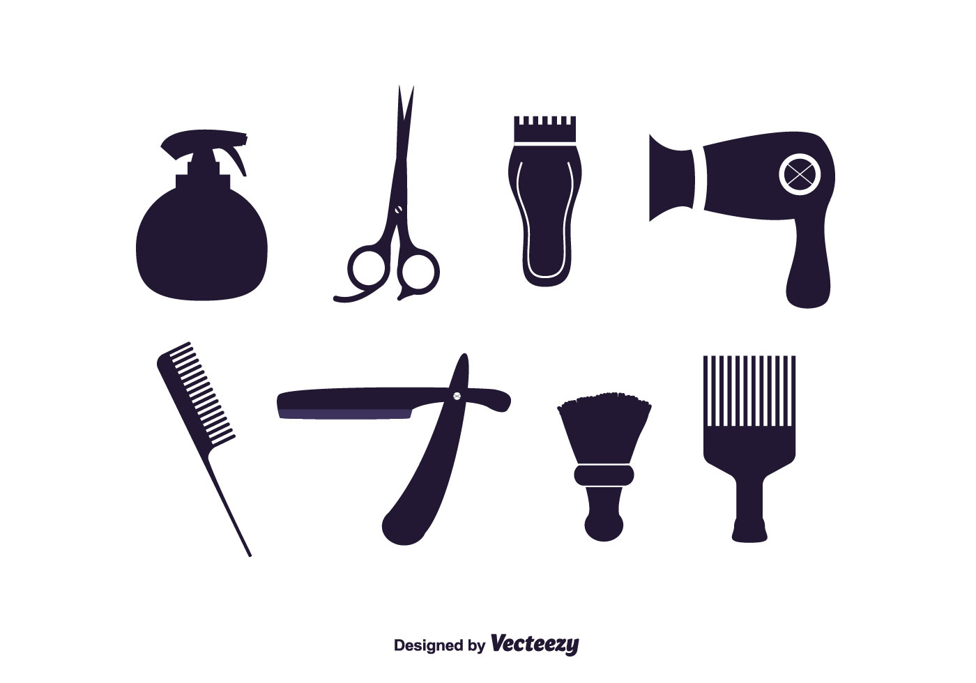 Barber Vector : Vector Set of Barber Tools - Download Free Vector Art, Stock Graphics ...