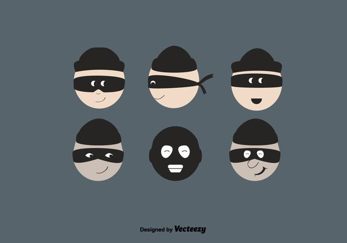 Free Robber Vector Set