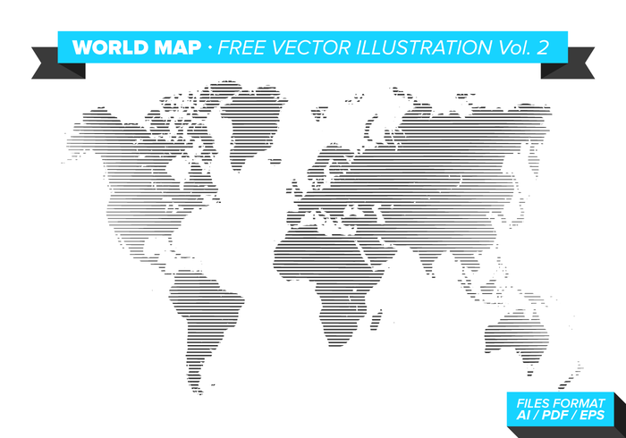 Världskarta Free Vector Illustration Vol. 2