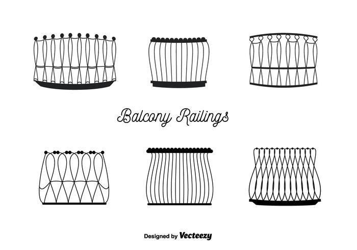 Balcony railings vector download free vector art stock for Balcony vector