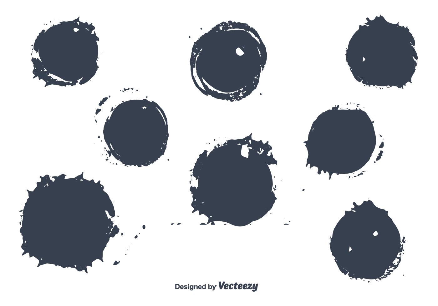 Round Brush Stroke Vectors - Download Free Vector Art ...