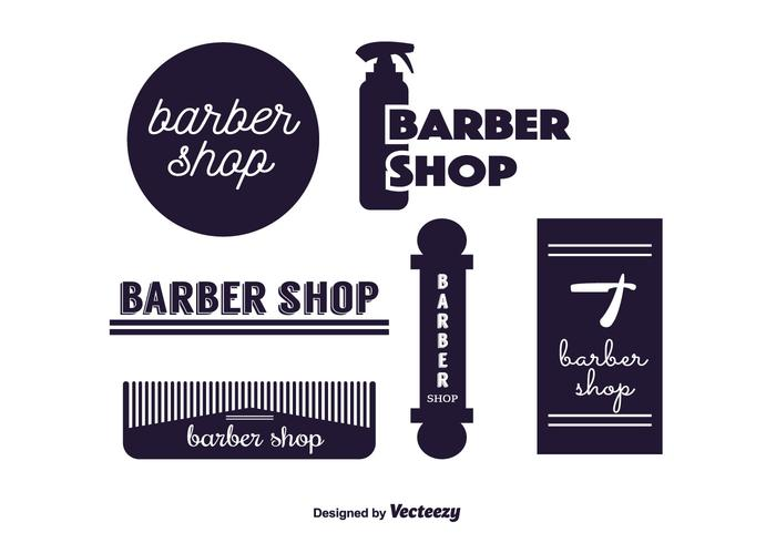 Barber Labels Vector
