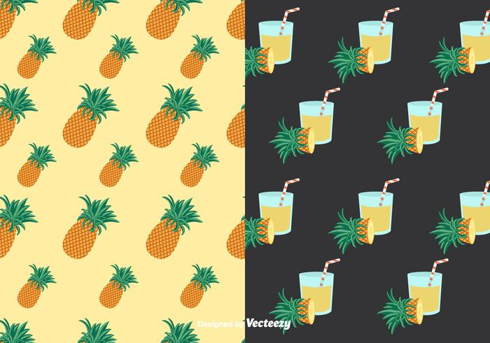 Ananas Patterns Vektor