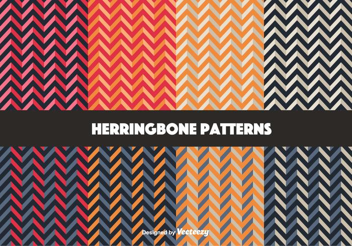 Colorful Herringbone Pattern Vectors