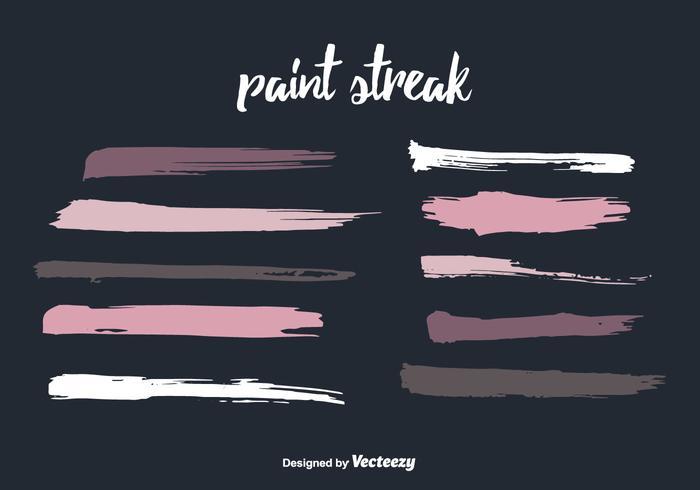 Colorful Paint Streak Vector