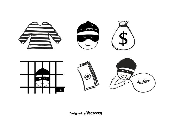 Hand Drawn Robber Vector