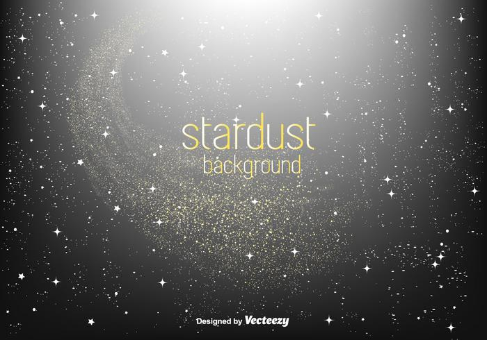 Golden Stardust Vector Background