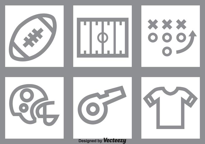 Voetbal Grey Icons Set