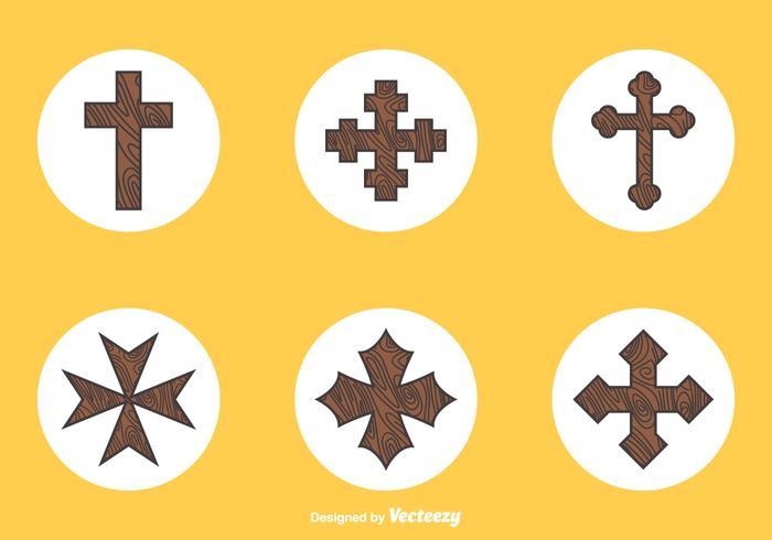 Free Wooden Crosses Vector