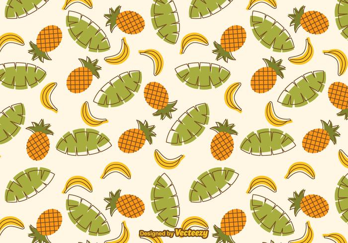Free Tropical Fruit Vector Pattern