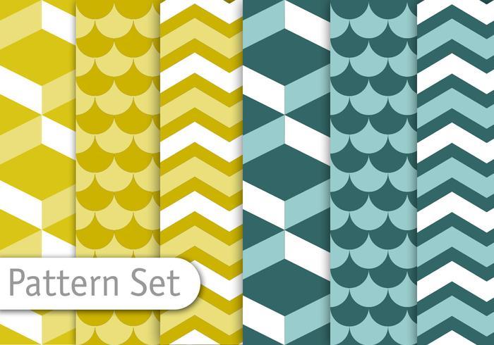 Geometrische Decoratieve Patroon Set vector