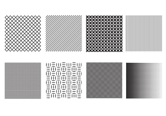 Line Art Vs Halftone : Crosshatch and halftone brush vector download free