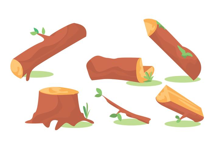 Wood Logs Vector Set