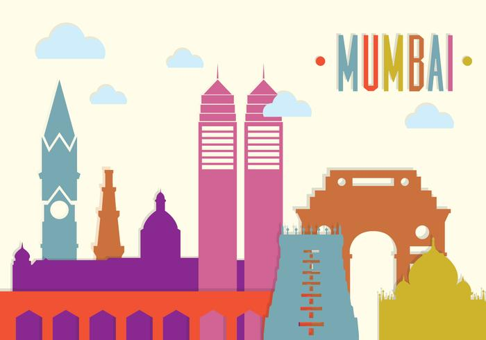 Mumbai Landscape in Vector