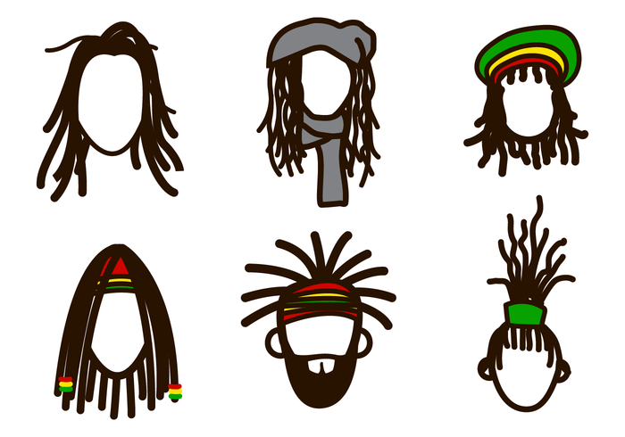 Free Dreads Vector Set Of With Handrawn Style Great For