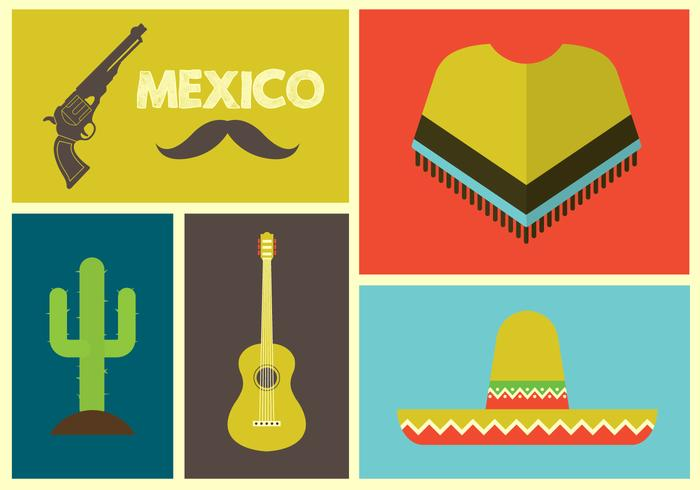Vector Illustration of Mexican Icons