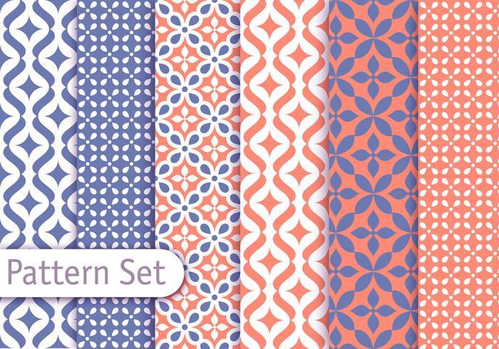 Kleurrijke Arabische Patroon Set vector