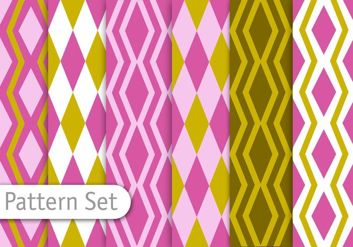 Geometric Retro Pattern Set