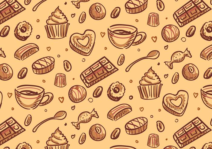 Chocolate Candy Pattern Vector