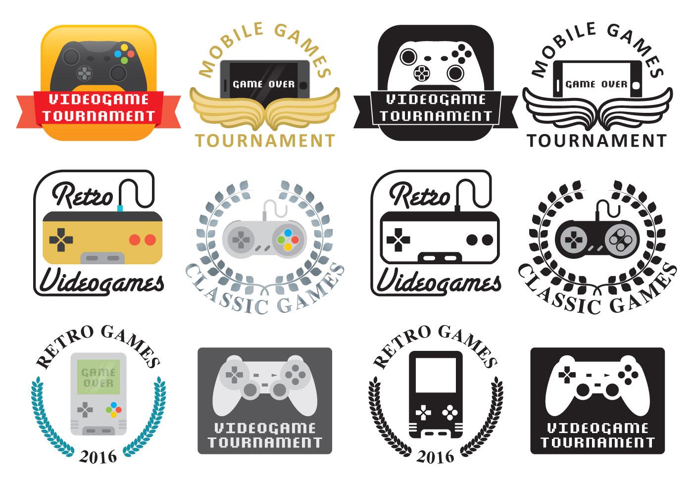 video game logos download free vector art stock