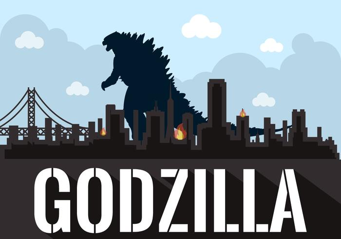 Vector Illustration of Godzilla