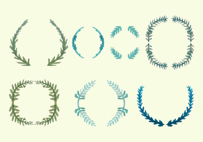 Free Olive Wreath Vector Pack