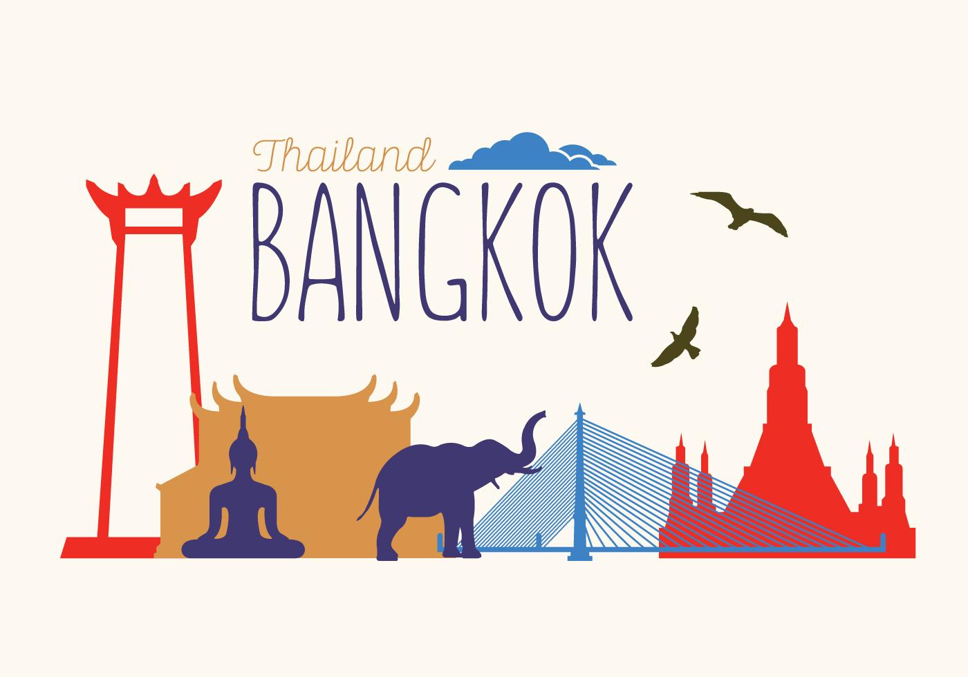 Vector Illustration Of Bangkok Download Free Vector Art