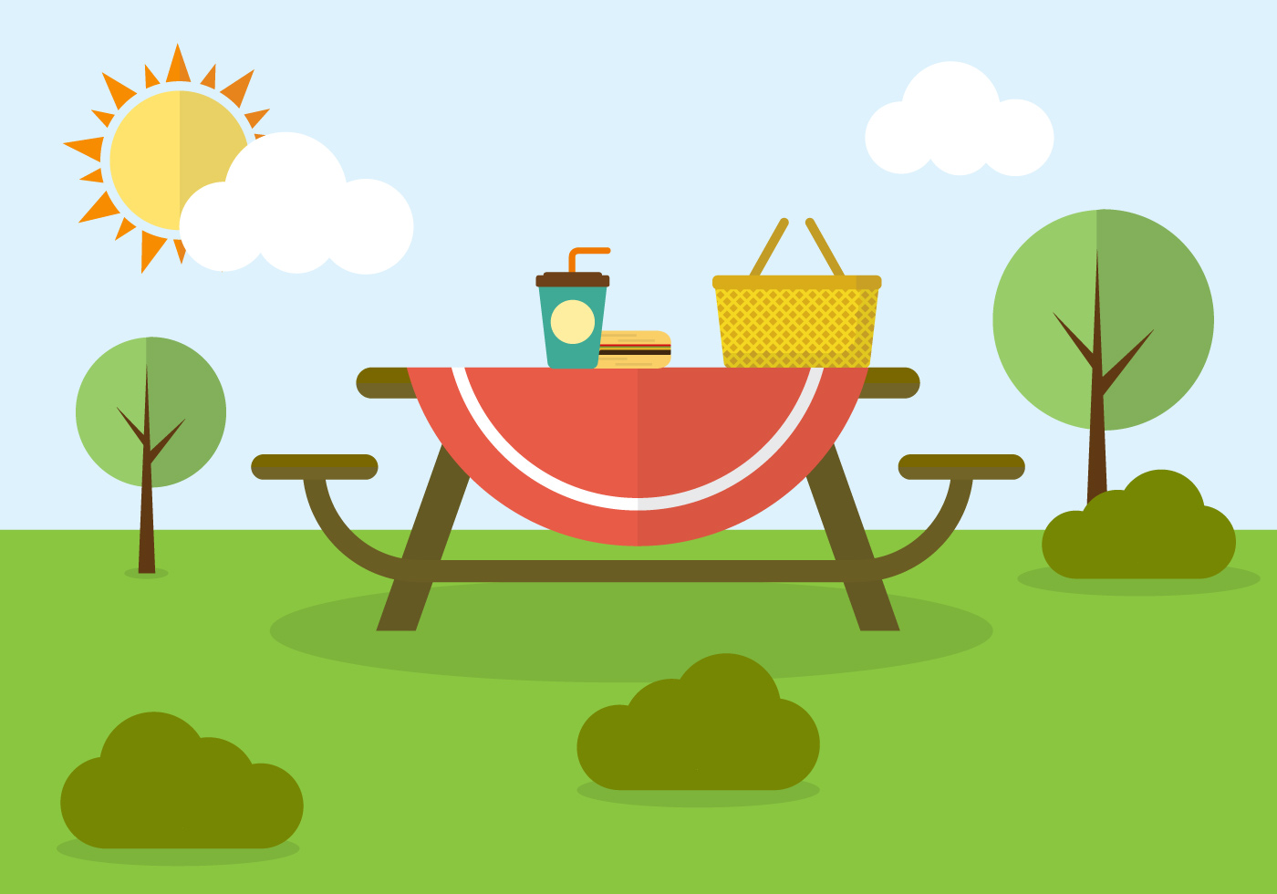 spring picnic clipart - photo #8