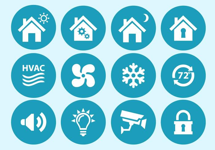 Home Automation en Security Interface Icons vector