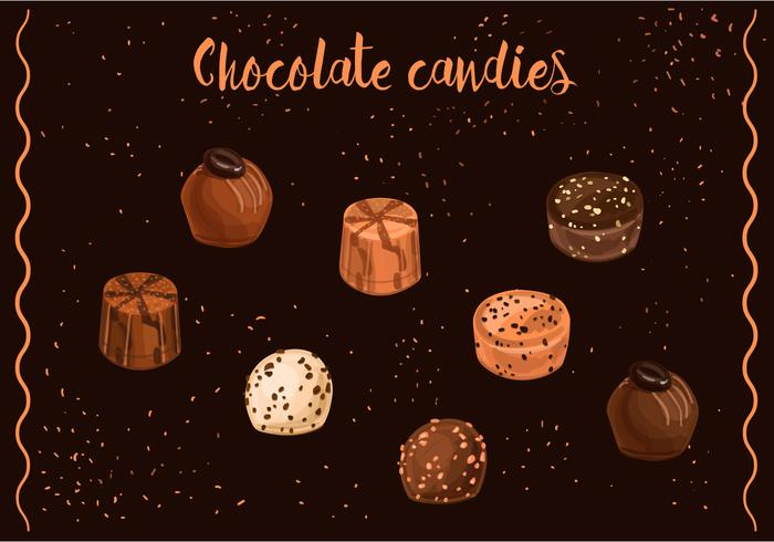 Chocolate Candies Vectors
