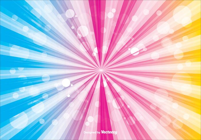 Colorful Sunburst Vector Background