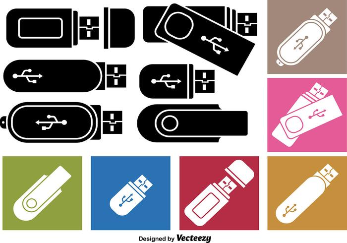 Pen Drive Icon Vectors