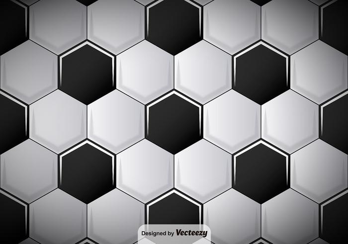 Vector Football Soccer Ball Pattern