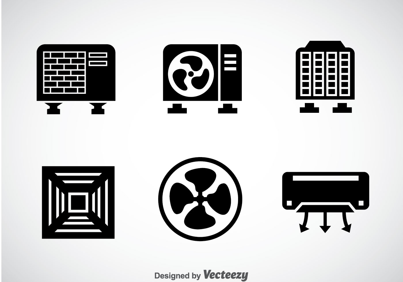 Air Conditioning Free Vector Art 4827 Downloads Drawing Of Hvac System Black Icons