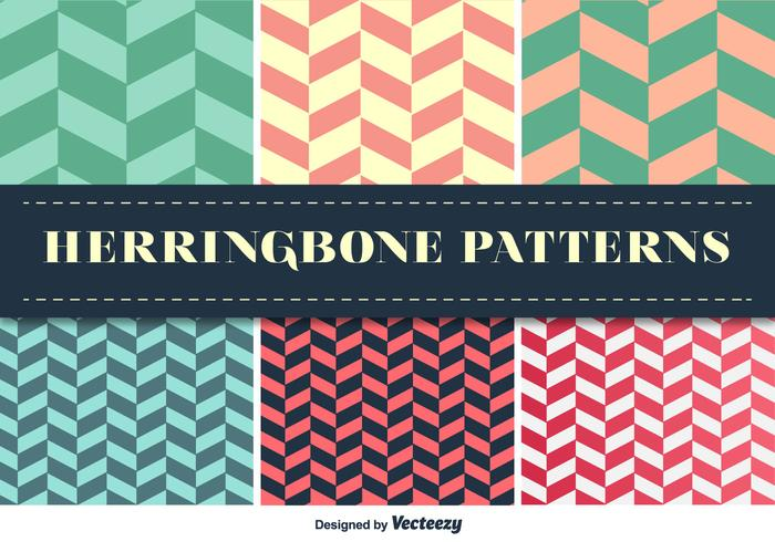 Herringbone Pattern Vector Set