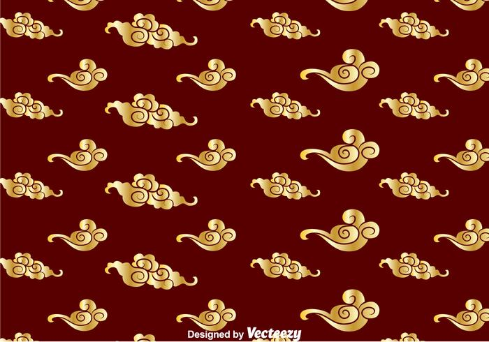 Golden Chinese Cloud Pattern