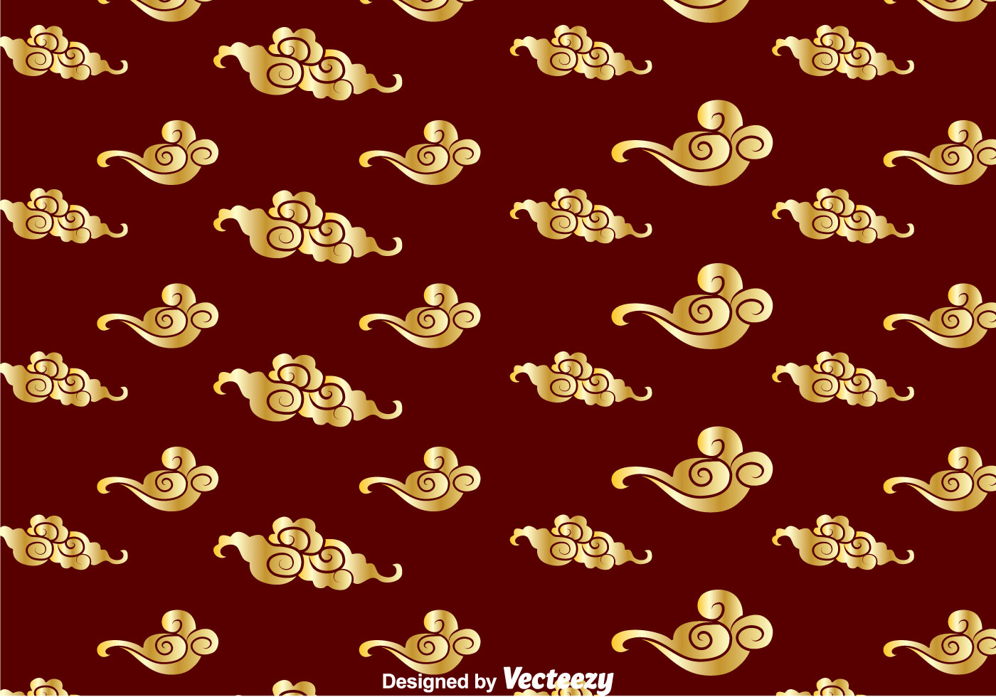 Golden Chinese Cloud Pattern - Download Free Vector Art, Stock ...