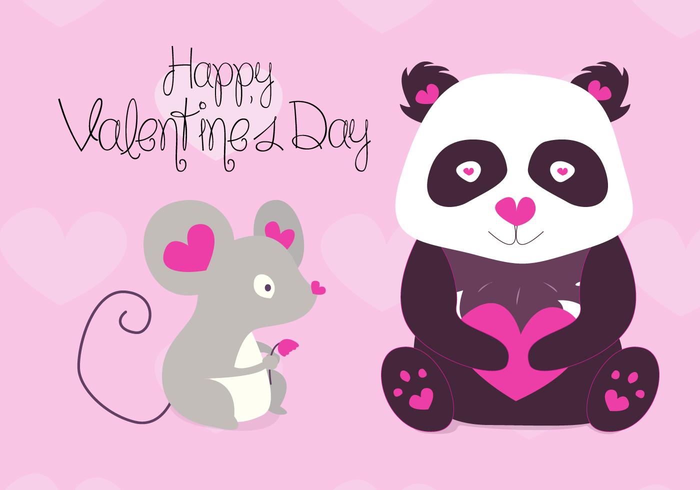 Free Valentines Animals Vector - Download Free Vectors ...