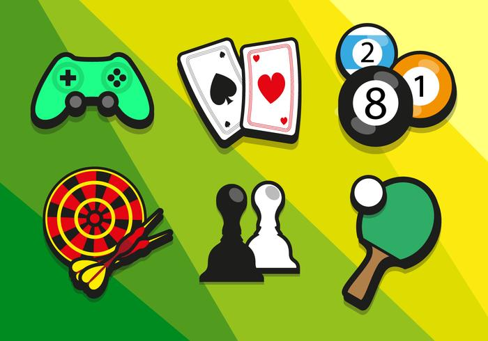 Game Colorful Illustrations Vector