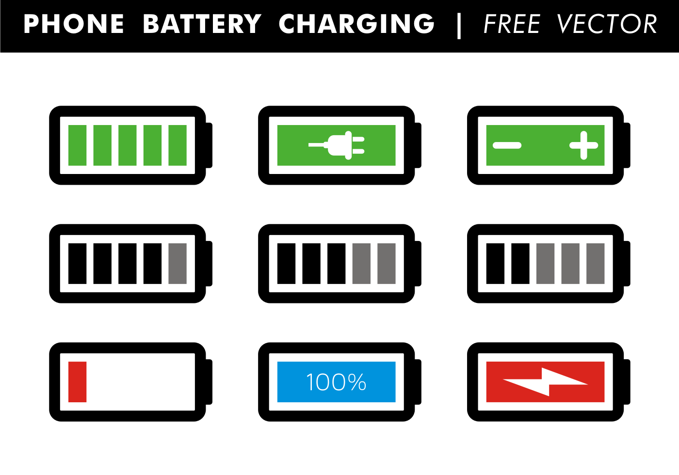 Phone Battery Charging Free Vector Download Free Vector