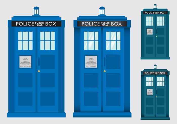 Police Box Tardis Vectors