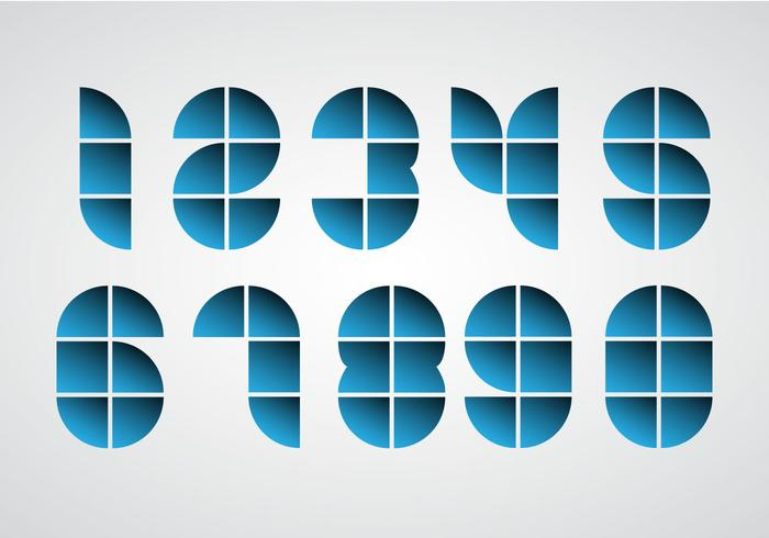 Free Geometric Numbers Vector