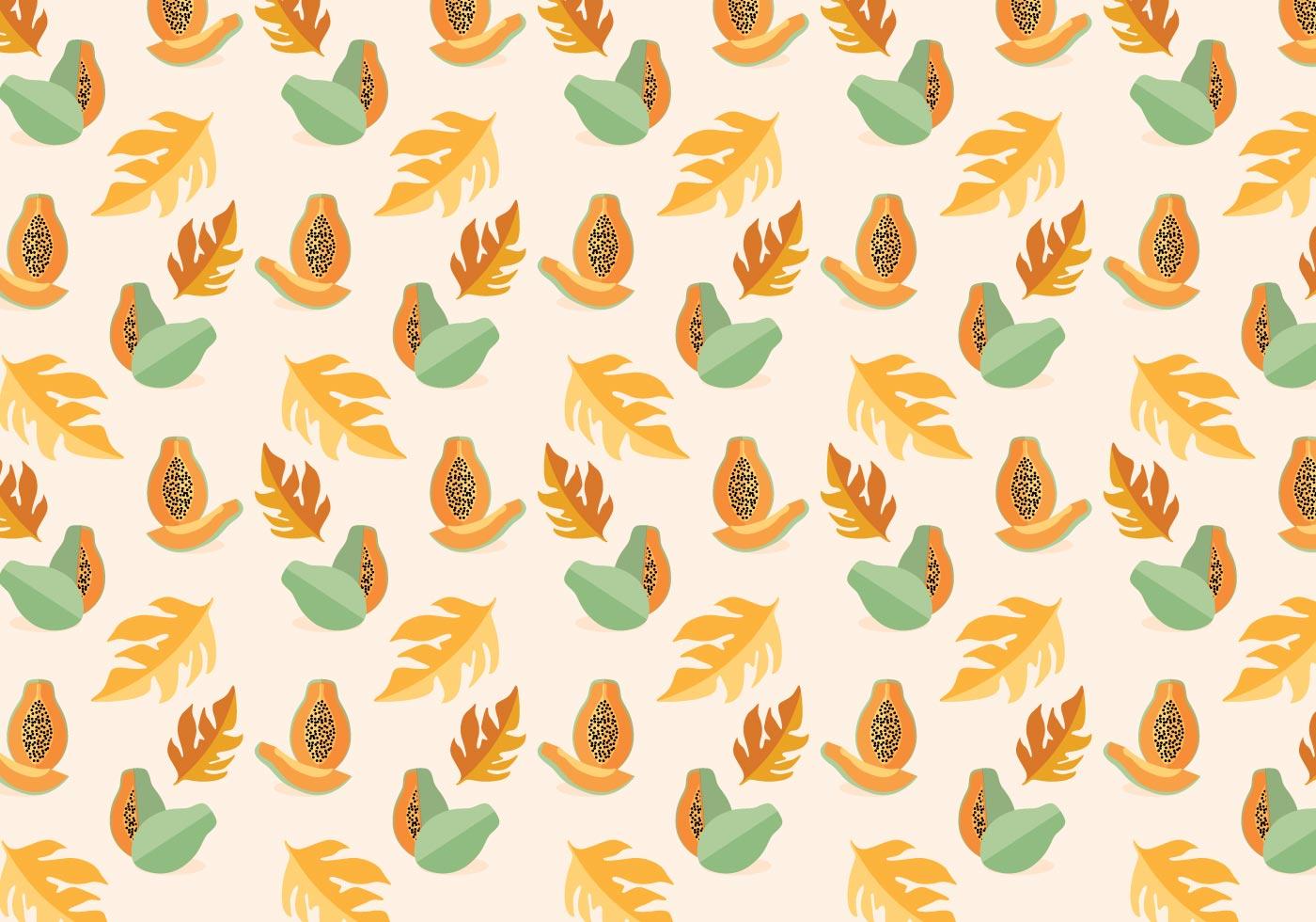 papaya vector pattern download free vector art stock