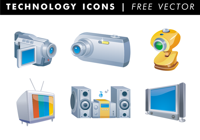 Technology Icons Free Vector