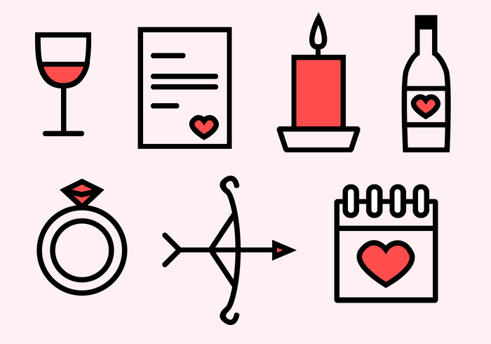 Free Valentine's Day Icons vector
