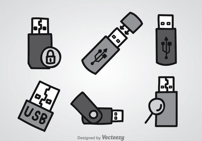 Stift-Laufwerk Icons Sets