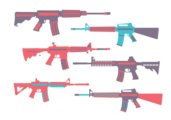 Ar15 Colorful Vector