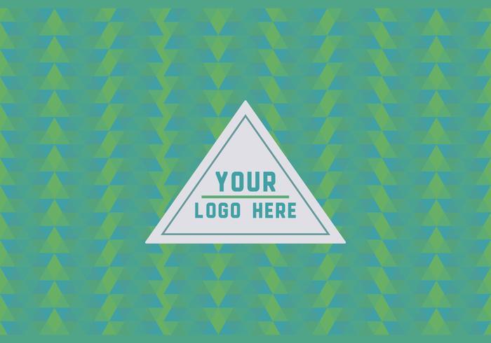 Free Green Geometric Logo Background