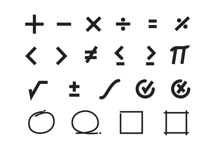 Free Math Symbols Vector Download Free Vector Art Stock Graphics